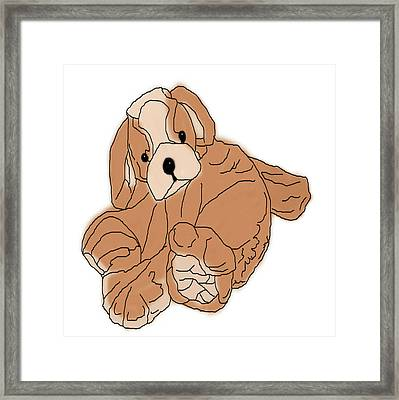 Framed Print featuring the digital art Soft Puppy by Jayvon Thomas