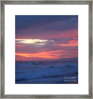 Framed Print featuring the photograph Soft Sunset by Michelle Wiarda