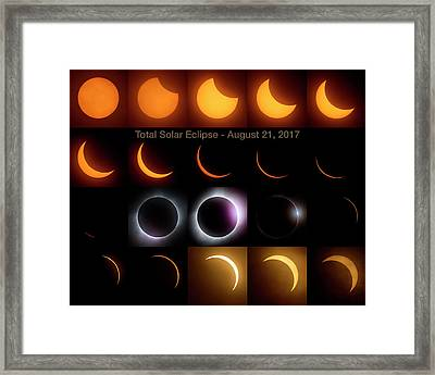 Solar Eclipse - August 21 2017 Framed Print by Art Whitton