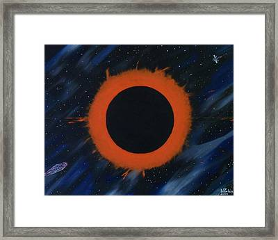 Solar Eclipse Framed Print by Paul F Labarbera