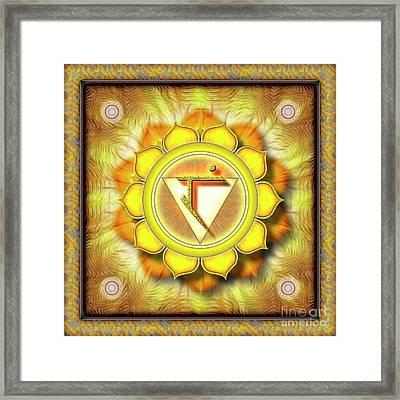 Solar Plexus Chakra - Series 1 Framed Print by Dirk Czarnota