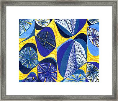Framed Print featuring the drawing Solar Rays by Kim Sy Ok