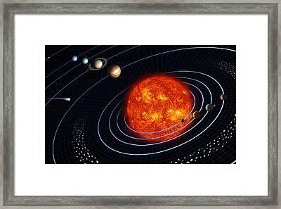 Solar System Framed Print by Stocktrek Images