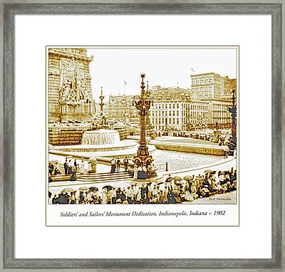 Soldiers' And Sailors' Monument Dedication, Indianapolis, Indian Framed Print by A Gurmankin