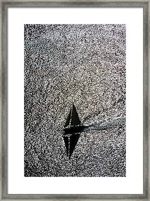Sailing Into Solitude Framed Print
