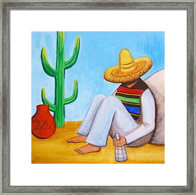 Sombrero Framed Print by Lucy Deane