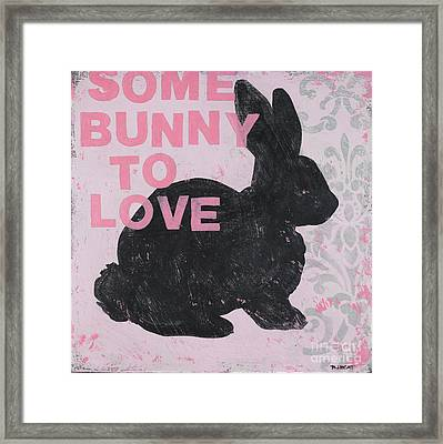 Some Bunny To Love Framed Print by Bonnie Lecat