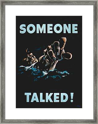 Someone Talked Framed Print by American School