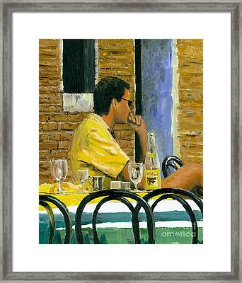 Somewhere In Venice Framed Print by Michael Swanson