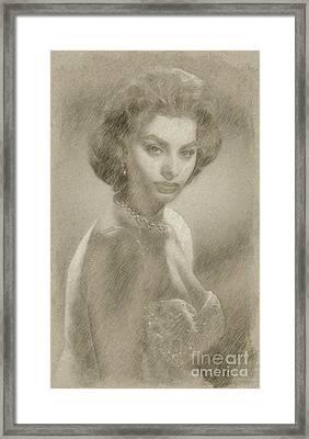Sophia Loren Hollywood Actress Framed Print by Frank Falcon