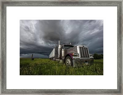 Soul Of A Trucker  Framed Print