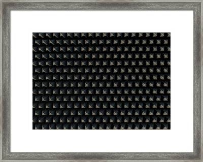 Sound Proof Foam Framed Print by Allan Swart