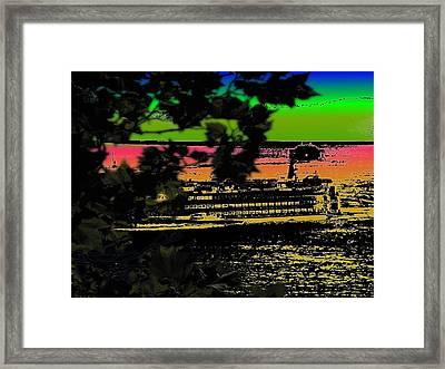 Soundside Treehouse View Framed Print by Tim Allen