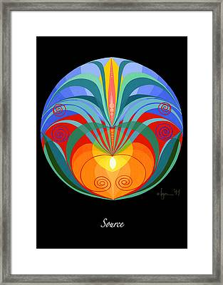 Source Framed Print