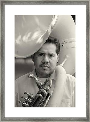Sousaphone Player Framed Print