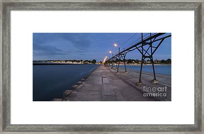 South Haven Shoreline Framed Print by Twenty Two North Photography