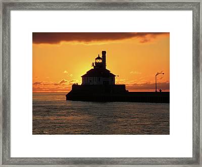 South Pier Sunrise Framed Print