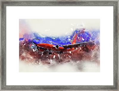 Southwest Boeing 737-7h4 Framed Print