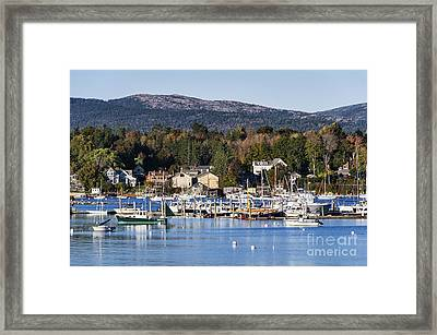 Southwest Harbor Maine Framed Print by John Greim