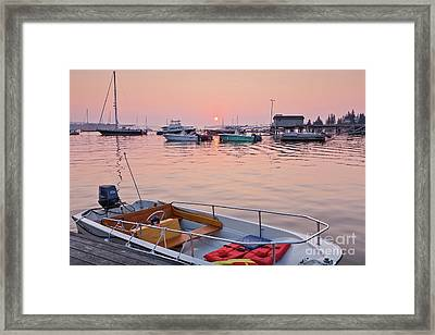 Framed Print featuring the photograph Southwest Harbor Sunrise by Susan Cole Kelly