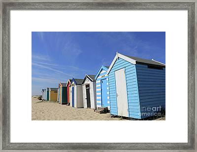Southwold Beach Huts Framed Print
