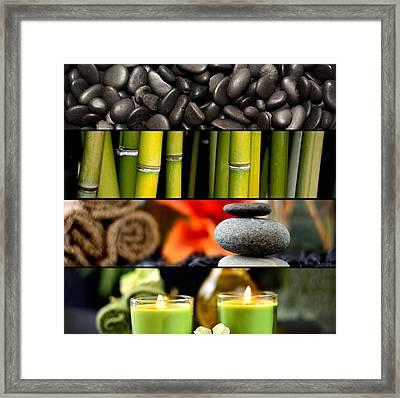 Spa Collage Framed Print