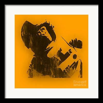 Pixel Chimp Framed Prints