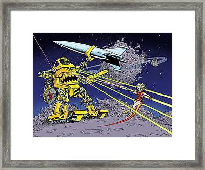 Space Junk Framed Print by Barry Munden