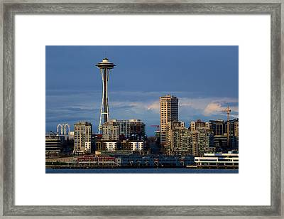 Space Needle Framed Print by Evgeny Vasenev