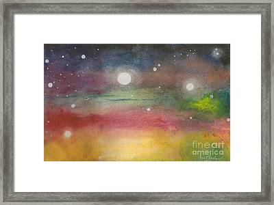 Space Rainbow Framed Print by Janet Hinshaw