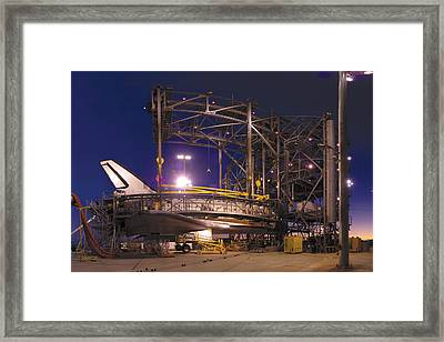 Space Shuttle Endeavour Framed Print by Brian Lockett