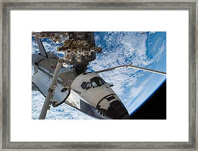 Space Shuttle Endeavour, Docked Framed Print by Stocktrek Images
