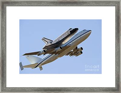 Space Shuttle Endeavour Mounted Framed Print