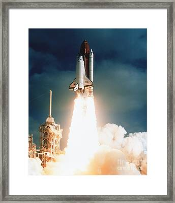 Space Shuttle Launch Framed Print by NASA Science Source