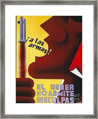 Spanish Civil War, 1937 Framed Print by Granger