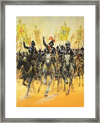 Spanish Conquistadors Framed Print by Graham Coton