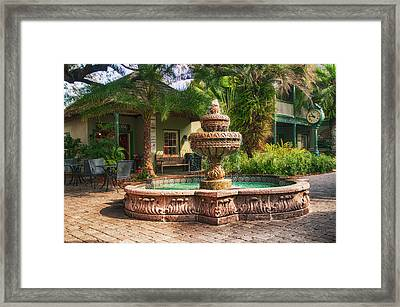 Spanish Fountain Framed Print