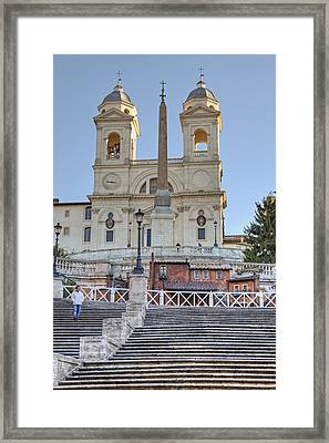 spanish steps in Rome Framed Print