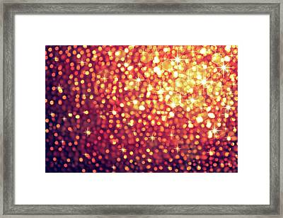 Sparkling Lights Framed Print by Carlos Caetano