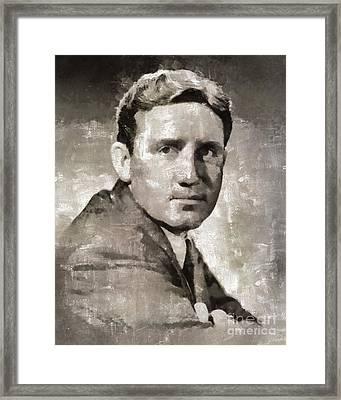 Spencer Tracy Vintage Hollywood Actor Framed Print