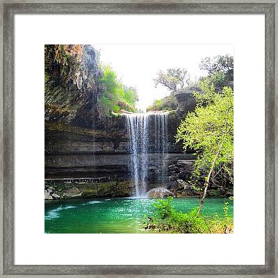 Spent The Day At Hamilton Pool. Yes Framed Print