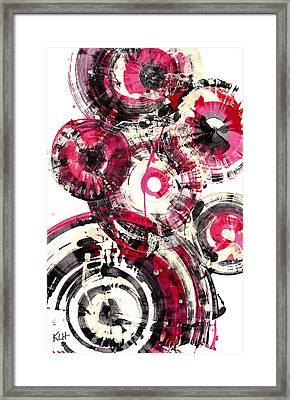 Framed Print featuring the painting Sphere Series 1025.050412 by Kris Haas