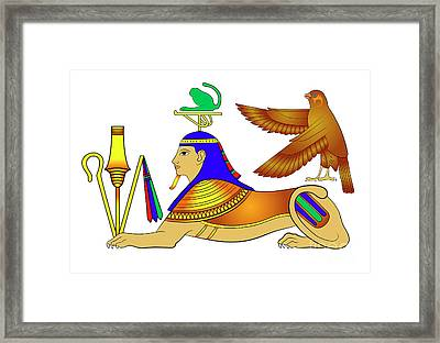 Sphinx - Mythical Creatures Of Ancient Egypt Framed Print by Michal Boubin