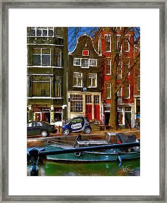 Spiegelgracht 6. Amsterdam Framed Print