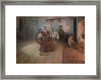 Spinning By Firelight Framed Print by Mountain Dreams