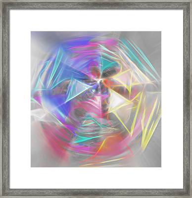 Spinning Pinwheel  Framed Print