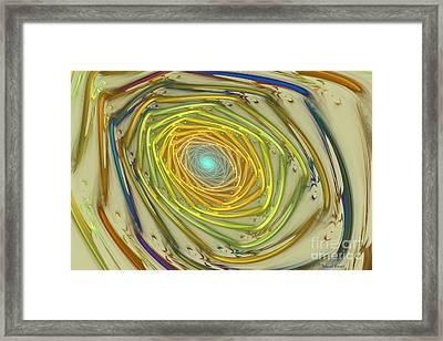 Spiral Rainbow Framed Print