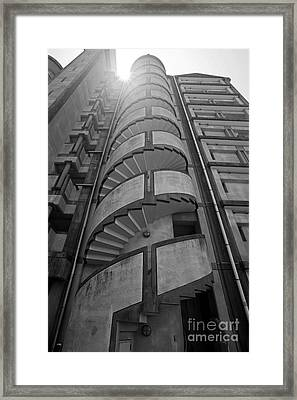 Framed Print featuring the photograph Spiral Staircase by Aiolos Greek Collections