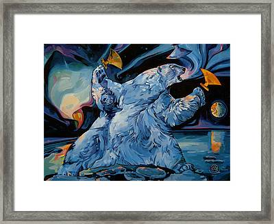 Framed Print featuring the painting Spirit Of The Arctic Winter Games  by Tim  Heimdal