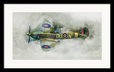 Dogfight Mixed Media Framed Prints
